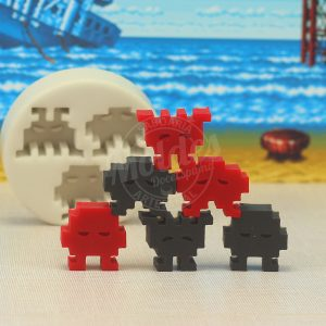 Molde Silicone Space Invaders